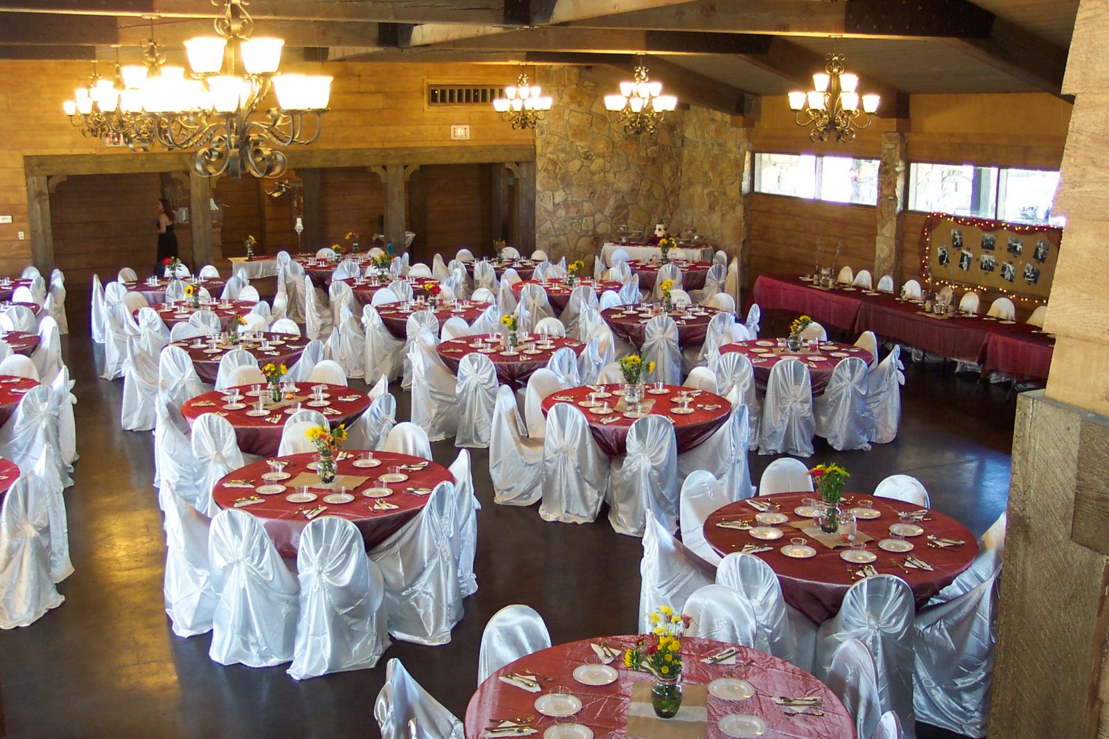 Wedding receptions set up at Hidden Lakes Golf Course
